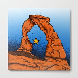 Delicate Arch (Color) Metal Print