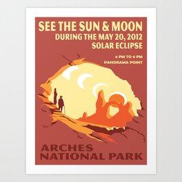 Vintage poster - Arches National Park Art Print