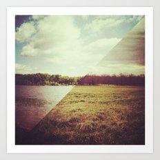 land/water | no. 2 Art Print