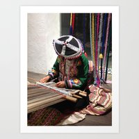 peru Art Prints featuring Peru by Catherine Heft