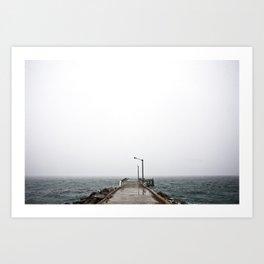 Foggy Coast Art Print