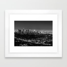 Black and White Los Angeles Framed Art Print