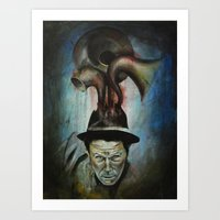 tom waits Art Prints featuring Tom Waits by Victoria Lavorini