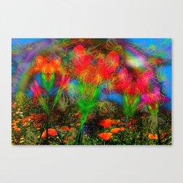 Wild Poppy Hallucintion Canvas Print