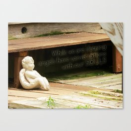 Angels have conversations with our souls Canvas Print