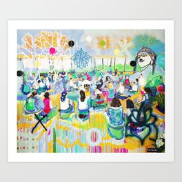 In the Light of Love, Mantras Art Print
