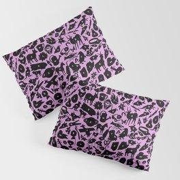 Alphabet Compendium Letter Silhouette Pattern - Pink Pillow Sham