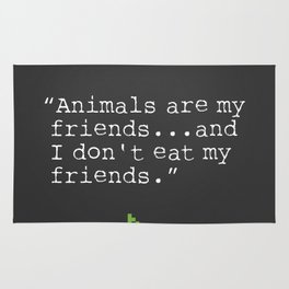 George Bernard Shaw quote about vegetarian Rug