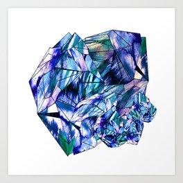 Crystal Blue Sapphire Gem Art Print
