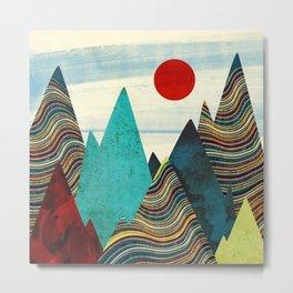 Color Peaks Metal Print