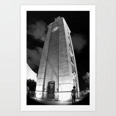 Where Are You? [Black & White] Art Print
