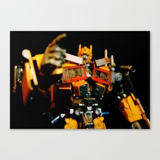 Golden Optimus Canvas Print