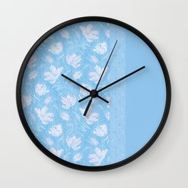 Laced blue Wall Clock