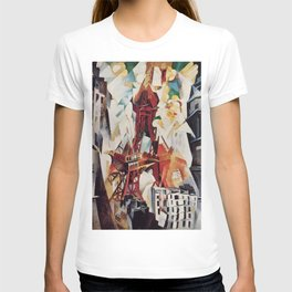 """Robert Delaunay """"Graphic Champs de Mars: The Red Tower"""" T-shirt"""