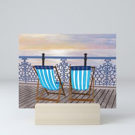 Brighton Pier - Deckchairs  Mini Art Print