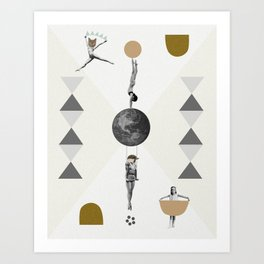 The great world circus Art Print