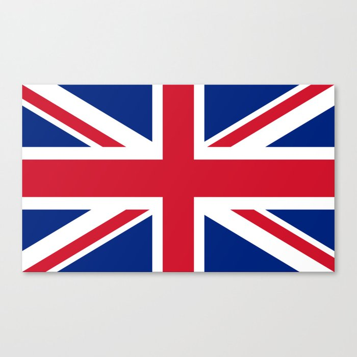 UK FLAG - The Union Jack Authentic color and 3:5 scale  Canvas Print