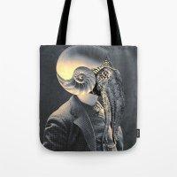 marine Tote Bags featuring MARINE by Julia Lillard Art