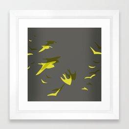 THE FLYING YELLOW Framed Art Print