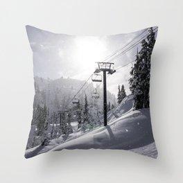 Mt Baker Ski Lift Throw Pillow