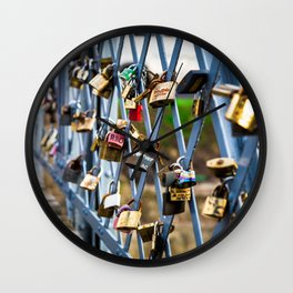 Love Locks Wall Clock