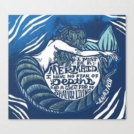 Anais Nin Mermaid Depths Canvas Print