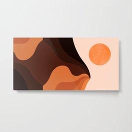 Abstraction_SUN_MOUNTAINS_Bohemian_Minimalism_002 Metal Print
