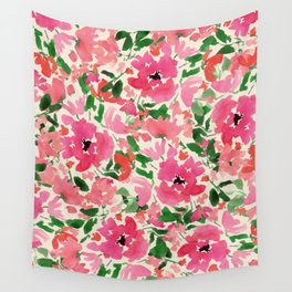 Red Rose Bouquet Wall Tapestry