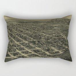 Vintage Pictorial Map of Bartlesville OK (1917) Rectangular Pillow