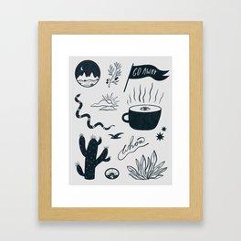 southwest sketch Framed Art Print