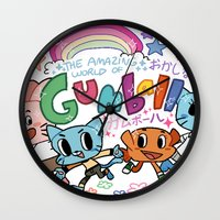 gumball Wall Clocks featuring GUMBALL by Suyeda