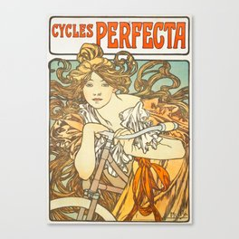 Cycles Perfecta by Alphonse Mucha, 1902 Canvas Print