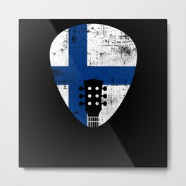 Sweden Flag Guitar Plectrum Metal Print
