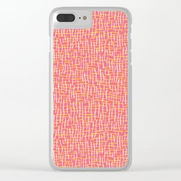 Pink Woven Burlap Texture Seamless Vector Pattern Clear iPhone Case