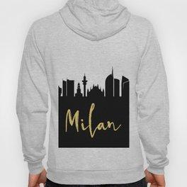 MILAN ITALY DESIGNER SILHOUETTE SKYLINE ART Hoody