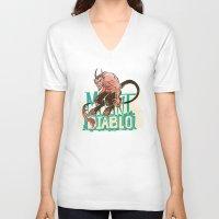 diablo V-neck T-shirts featuring Mount Diablo by Monica McClain