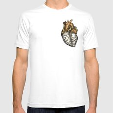 Heart gone wild - color  White Mens Fitted Tee MEDIUM