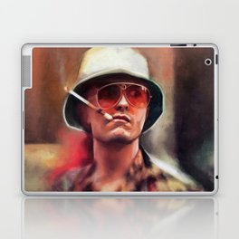 Hunter S. Thompson Smokes A Cigarette - Fear And Loathing In Las Vegas Laptop & iPad Skin