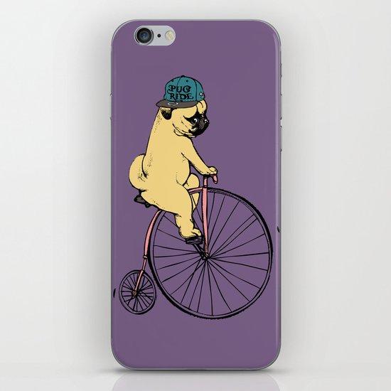 Pug Ride iPhone & iPod Skin
