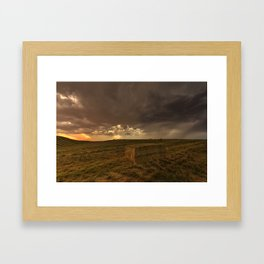 Hay Storm Framed Art Print