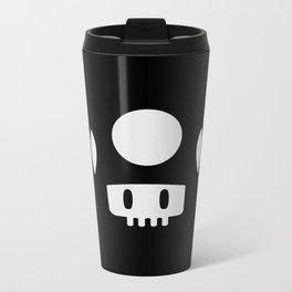 Minimal Mushroom Metal Travel Mug