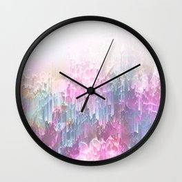 Magical Nature - Glitch Pink & Blue Wall Clock