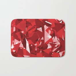 Abstract Red Bath Mat