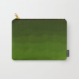 Dark Rich Forest Green Ombre Carry-All Pouch