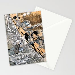 Kuniyoshi Utagawa, The ghost of Taira Tomomori, Daimotsu bay Stationery Cards