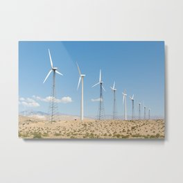 San Gorgonio Pass wind turbine Metal Print