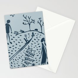 soul mates met too late Stationery Cards