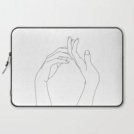 Hands line drawing illustration - Abi Laptop Sleeve
