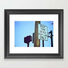 Right Line Framed Art Print