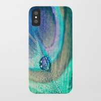 peacock iPhone & iPod Cases featuring Peacock by Marianne LoMonaco